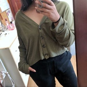 Forever 21 Crop cardigan shirt
